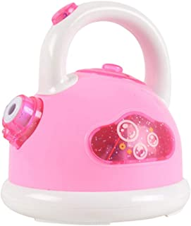 Kanku Children's Electric Kettle Bubble Machine One-Button Automatic Bubble Machine with LED Light with Music