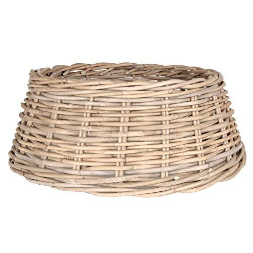Zierkorb - Korb für Weihnachtsbaumständer oder Christbaumständer Schöner Tree Basket im Shabby Chic/Landhaus Stil (Klassik M (Ø×H: ca. 50×20 cm))