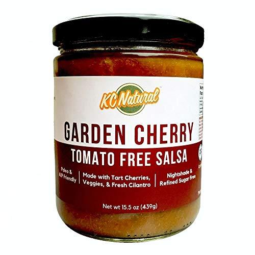 KC Natural - Garden Cherry Tomato Free Salsa - Nightshade Free - Paleo and AIP Friendly - 15.5 oz