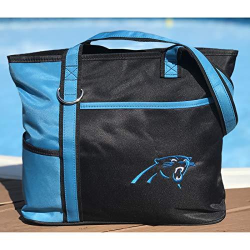 Charm14 Little Earth NFL Tragetasche mit gesticktem Logo, Damen, Carolina Panthers, Einheitsgröße