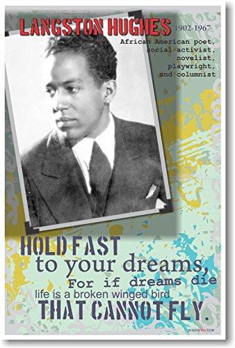 Langston Hughes - African American Poet, Social Activist, Novelist, Playwright & Columnist - Classroom Poster