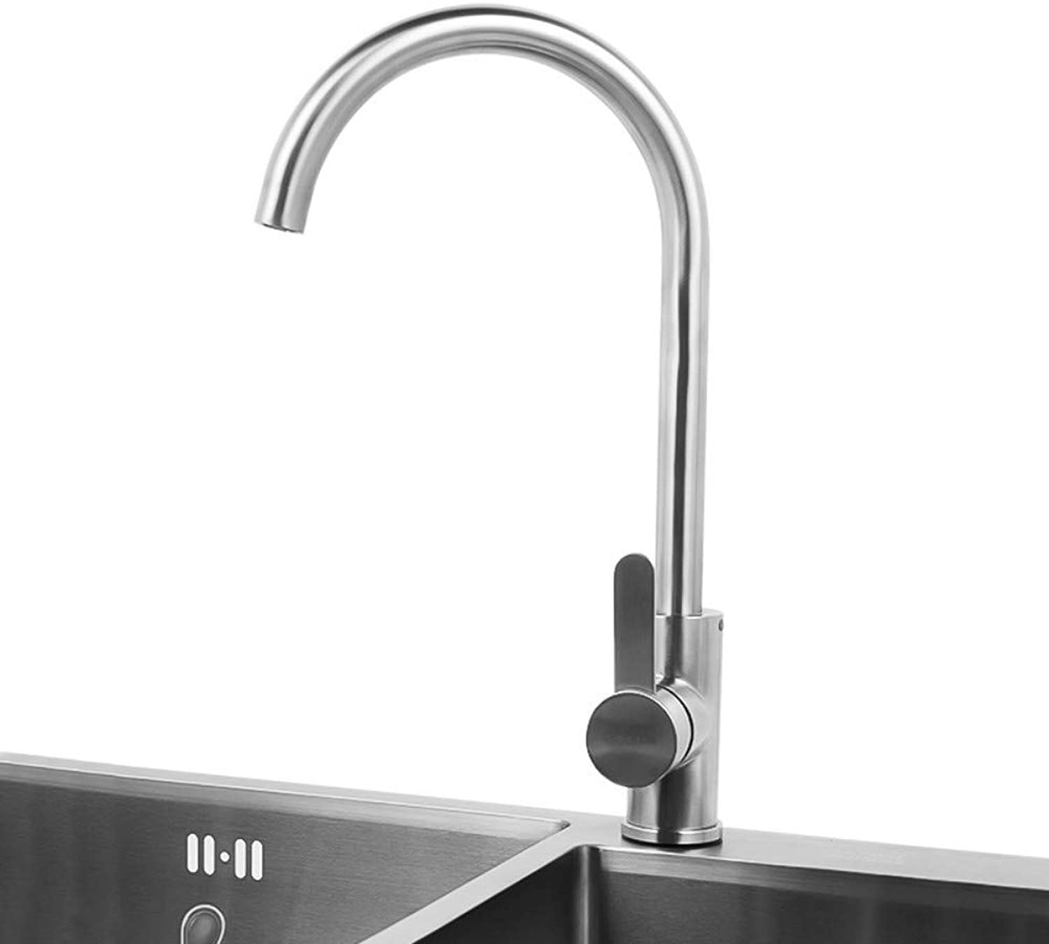 Hot and Cold Water Tap Stainless Steel Kitchen Faucet redatable Faucet