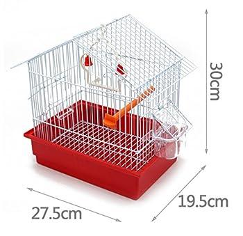BPS Bird Cage Metal avec Feeder Drinker Swing Jumper Color Bucket Expédition aléatoire 27,5 x 19,5 x 30 cm BPS-1162