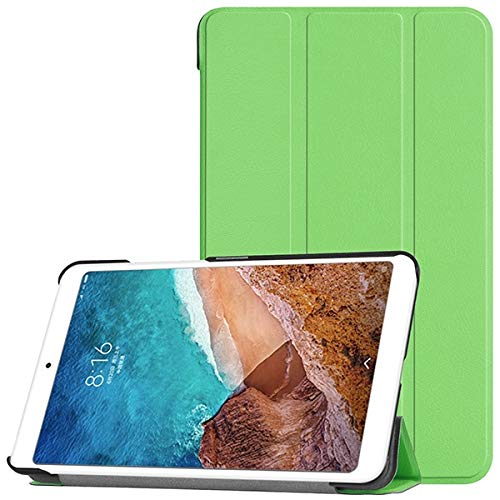 RZL Pad y Tab Fundas para Xiaomi Mi PAD4 MIPAD 4 8.0 Pulgadas, Funda de Cuero de la PU Delgada Cubierta Protectora para la Tableta para MI Pad 4 8 Stand Smart Cover + Regalos (Color : Verde)