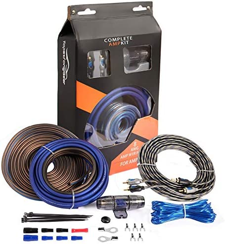 TOPSTRONGGEAR 8 Gauge Complete Amp Kit True 8 AWG Amplifier Subwoofer Installation Wiring Wire product image
