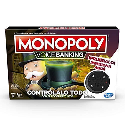 Hasbro Gaming Monopoly Voice Banking – Juego de Mesa electrónico Board Game