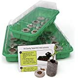Window Garden Seed Starting Kit – Complete Supplies – 3 Mini Greenhouse...
