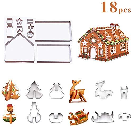 xiaoxiao666 Emporte-pièce 3D 18 pièces Emporte-pièce 3D Noël