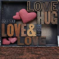 sjoloon 10x 10ftウェディング背景ピンクローズハートLove木製床ビニール写真背景バレンタインの日jlt10364