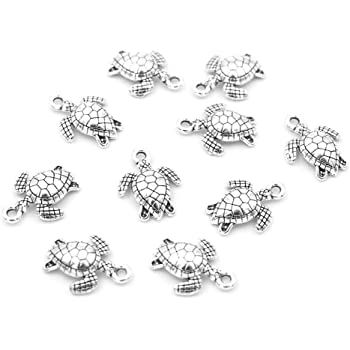 30g Tibetan Silver Mixed Beads Charms Pendants Mixed Colour SEAHORSES HA06730