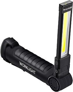 Nachar USB Ladearbeitslicht, COB LED Inspektionslicht,tragbarer Faltbarer Scheinwerfer,superhelle Taschenlampe,geeignet für den Notfall bei der Wartung von Werkstätten im Freien