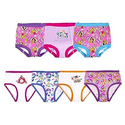 Disney girls Princess Potty Training Multipacks Underwear, Princess Panty (4) & Potty Training Pant (3) Combo, 2T US by Disney