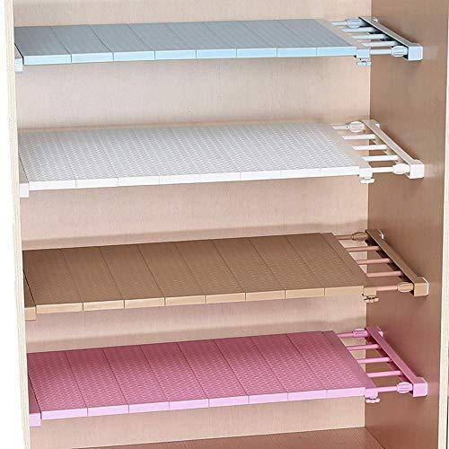 Erweiterbar Verstellbarer Kleiderschrank Regal Lagerregal Separator Kleiderschrank Bücherregal Schrank Teiler DIY Organizer Stange für Küche Bad Schlafzimmer