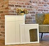 BERNADO Spiegel - hochwertiger Wandspiegel Made in Germany (45 x 45 cm) - Quadratisch - Rahmen Weiß Holz/MDF - moderner Spiegel - dauerhaft rostfrei