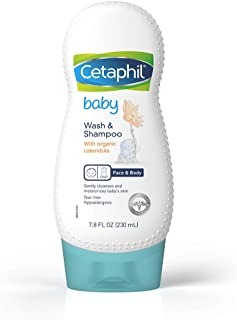 Cetaphil Baby Wash & Shampoo with Organic Calendula, 7.8 Fl Oz (Pack of 1)