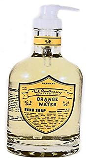 U.S. Apothecary Orange Flower Water Natural Hand Soap 12 oz/375 ML by k hall