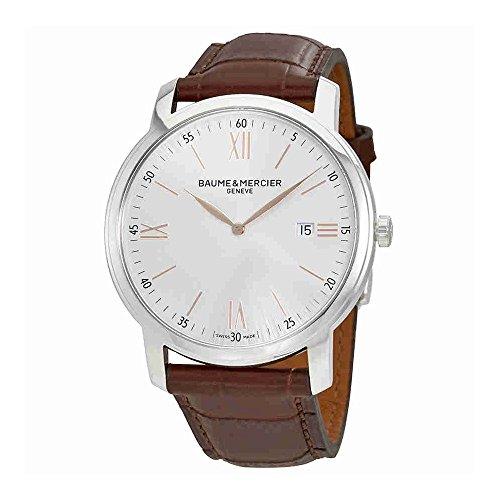Baume et Mercier Classima plata Dial Mens Reloj moa10380