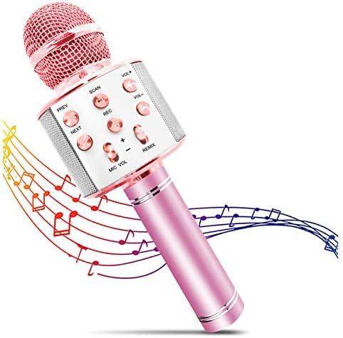 FILDANCO Wireless Karaoke Microphone for Kids Bluetooth Portable Handheld Karaoke Mic Speaker product image