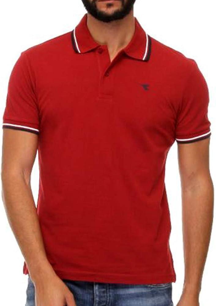Diadora ss polo , maglietta maniche corte per uomo , 100% cotone 102.177175D