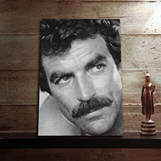 TOM SELLECK - Original Art Print (A4 - Signed by the Artist) #js001