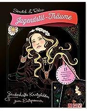 Jugendstil-Träume - 15 Scratch-Motive mit fantastischen Farbeffekten inkl.Bambusstick: Zauberhafte Kratzbilder zum Entspannen