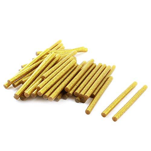 50 Stks 7mm x 100mm Goud Toon Glitter Elektrische Hot Melt Gun Lijm Sticks