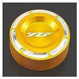 / FIT FOR - Yamaha/YZF R3 ABS R6 R25 YZFR3 2015-2020 YZFR6 2006-2016 YZFR25 2013-2020 Motocicleta Freno Trasero Freno De Líquido Tapa De La Cubierta (Color : Gold)