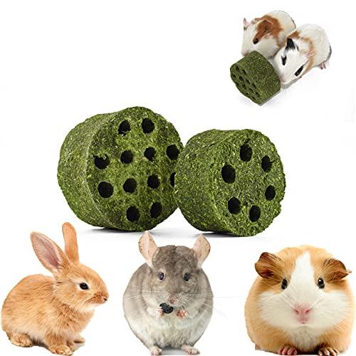 SKXZK Juguete de Conejo, Juguetes para Masticar Mascotas, Natural Timothy Pasteles de Hierba Cuidado Molar Juguete para Hamster Conejillo de Indias Chinchilla Conejos (L : (2,5 x 1,3 Pulgadas))