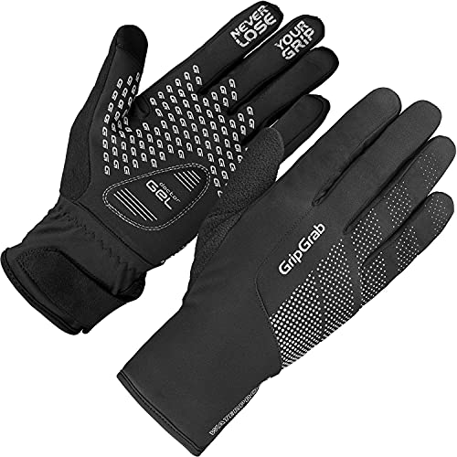 GripGrab Unisex– Erwachsene Ride Wasserdichter Winter Handschuhe Radsport, Herren und Damen Fahrrad, Schwarz, XL