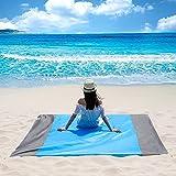 Coperta da Spiaggia, Coperta da Picnic Anti Sabbia 210x200 Portatile Anti Sabbia Impermeabile Portatile Coperta da Picnic