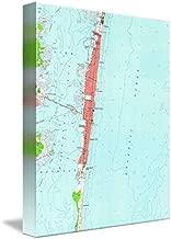 Imagekind Wall Art Print Entitled Vintage Seaside Heights NJ Map (1953) by Alleycatshirts @Zazzle | 8 x 10