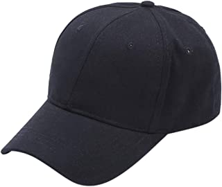 CapsA Solid Baseball Dad Cap Adjustable Size Perfect for Running Workouts Outdoor Activities Ponytail Messy Buns Visor