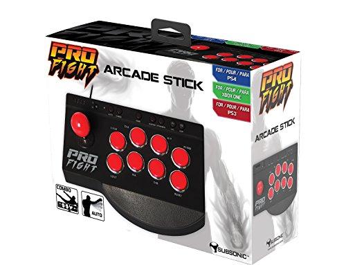 Subsonic - Pro Fight Arcade Stick Con Turbo E Combo - PS4/PS4 Slim/PS4 Pro/PS3/Xbox One/Xbox One S
