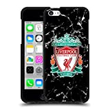 Head Case Designs Licenciado Oficialmente Liverpool Football Club Cresta Negra Mármol Funda de Gel Negro Compatible con Apple iPhone 5c