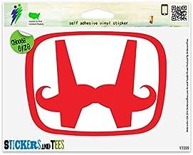 H Mustache Vinyl Car Bumper Window Sticker 5