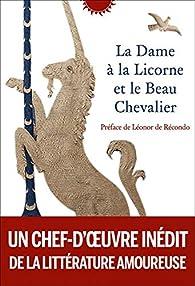 La dame à la licorne et le chevalier par Editions Phébus