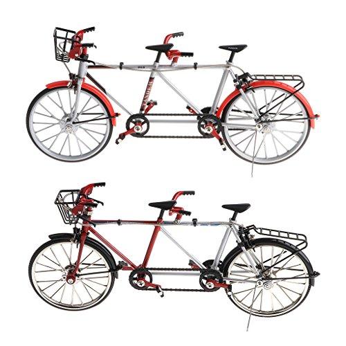 perfeclan 2 Piezas 1/10 Miniatura Bicicleta Tándem Bicicleta De Montaña Modelo De Bicicleta De Carretera Simulada Cool Boy Toys Regalos De Juegos Creativos