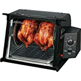 Compact Rotisserie Electric Oven Color: Black