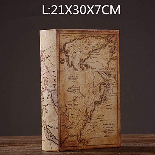 AMITD beeld sculptuur Europese vintage boeken miniaturen home vervalste oude boek decoratie figuren studie fotografie rekwisieten retromeubel, stijl 6