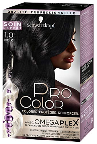 Schwarzkopf - Pro Color - Coloration Permanente Cheveux - Anti-Casse - Noir 1.0