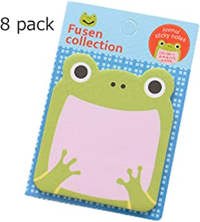 Sticky Notes, 8-Packs Self Sticky Notes, Creative Self-Stick Notes Colorful Super Sticky Notes, Memo Notes for Students, Home, Office -Easy Post and Use(Frog)