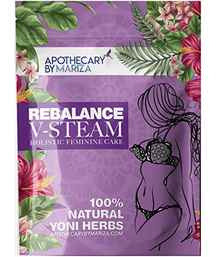 Rebalance V-Steam - Apothecary by Mariza - Yoni Steam Herbal Therapy - 100% Natural Herbal Feminine Detox - Ultimate Vcleanse