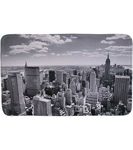 Tapis de Bain, Grande sélection de Beaux Tapis de Bain, de Haute qualité, très Doux, sèche Rapidement, Lavable (50 x 80 cm, Skyline New York)