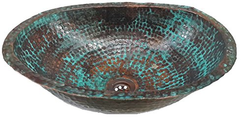 Egypt gift shops Classic Master Piece Rustic Oval Oxidized Pure Natural Copper Bath Sink Toilet Lavatory Hammered Wash Basin Construction Renovation