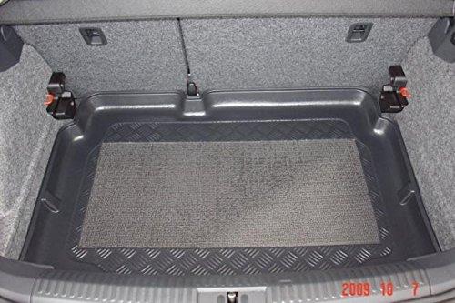 Omnipower 80008233 Kofferraumwanne 80008790 mit Anti-Rutsch passend für VW Polo 6R 2009- vertiefte Ladefläche