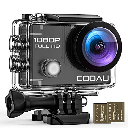 COOAU 4K 20MP Wi-Fi Action Camera External Microphone Remote Control EIS Stabilization Underwater 40M Waterproof Sport Camera Time Lapse with 2X1200mAh Batteries and 20 Accessories (2)