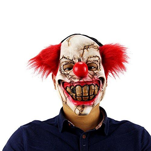 Qlan Maschera della testa dell'animale del lattice della maschera di Halloween Horror Halloween per le decorazioni del costume del partito di Halloween