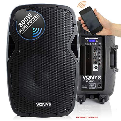 VONYX Active Powered DJ PA Speaker Wireless Bluetooth Audio Streaming 15'...