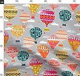 Vintage, retro, bunt, Luftballon, Heißluftballon, Andrea