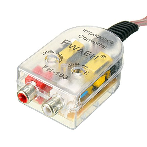 MOMOALA AAlamor Verstelbare luidspreker naar RCA Line ERUS Auto Hoog naar Laag Impedantie Converter Adapter